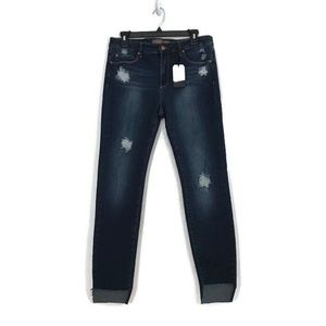 Leith Mid Rise Skinny Distressed Jeans Size 30